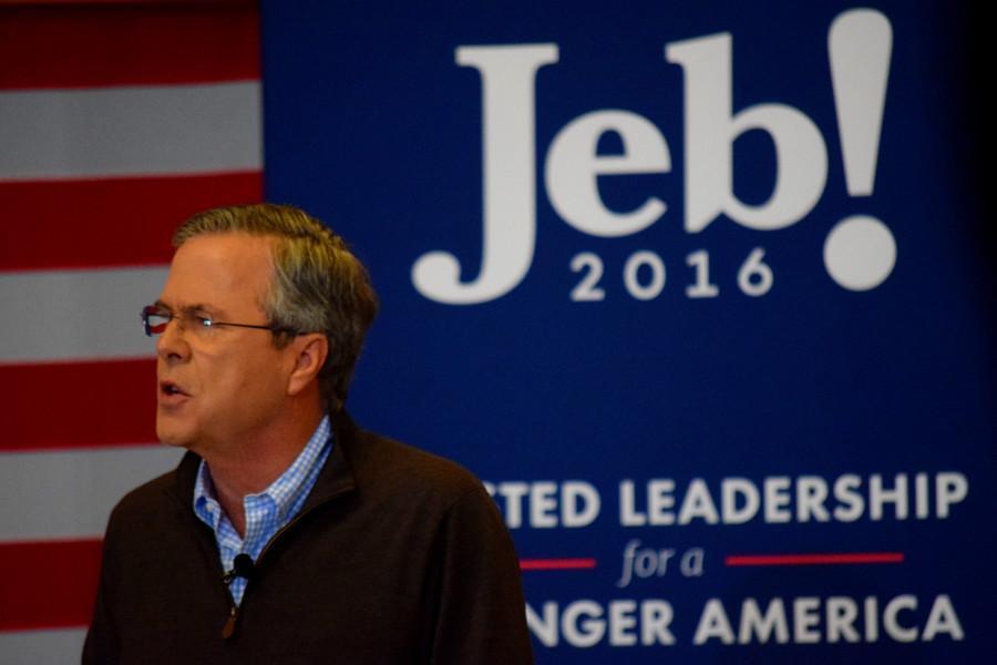 Jeb Bush discusses international policy at Souhegan High School