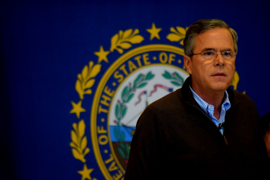Jeb took a series of questions from a variety of town residents.