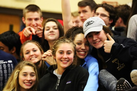 There was the regular spirited crowd for the Lebanon Souhegan home game.