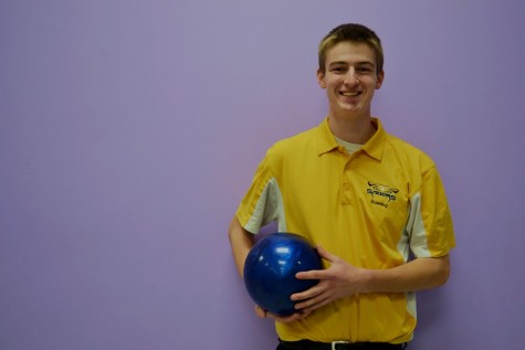 David Wieczerzak, co-captain of the varsity bowling team
