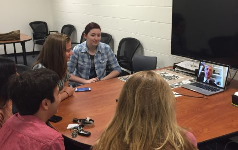 Students facetime Andrew Card, former Chief of Staff to President George W. Bush