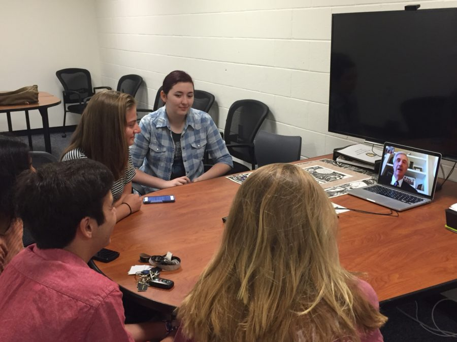 Students+facetime+Andrew+Card%2C+former+Chief+of+Staff+to+President+George+W.+Bush