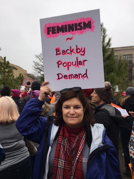 Another+Mont+Vernon%2C+New+Hampshire+resident+Cindy+Raspillar+holds+her+sign+up+loud+and+proud.+She+came+to+Washington%2C+DC+to+voice+her+opinion+about+the+issues+facing+society+today%2C+including+safety+for+all.+She+wishes+that+one+day+America+will+be+a+safe+space+for+everybody.