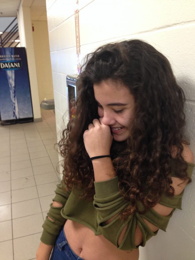 Uxue Lobo is an exchange student from Spain and current Junior at Souhegan High School. This photo captures not only Uxue's 24/7 humor and charm but her long crazy curls that do nothing but express her as a dancer, cheerleader and hilarious good friend to me.