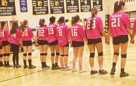 "Girls Volleyball ""Dig Pink"" Game"