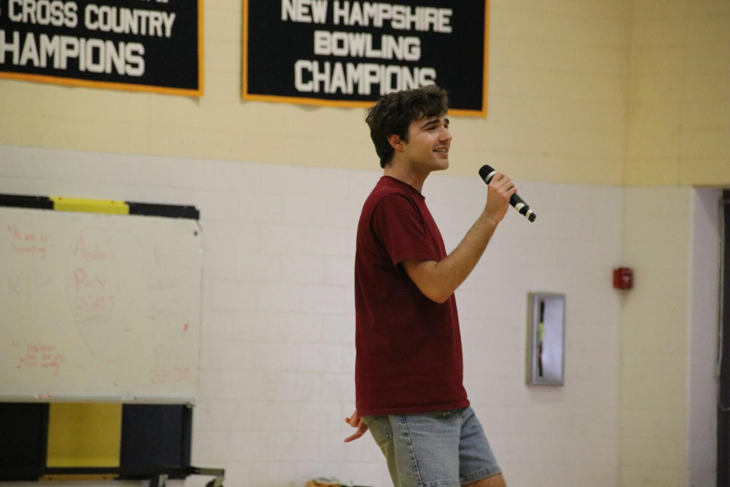 Christos+Nassiopoulos+decided+to+share+his+talent+of+singing+to+the+school+on+the+Run+for+Hope+day.