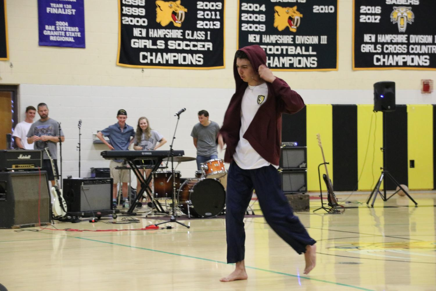 Robby+Morel+brought+his+annual+dance+routine+to+this+year%27s+talent+show.