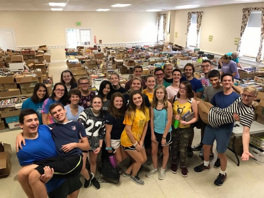 Crew Cares: 2018 Book Sale by Friends of the Amherst Town Library