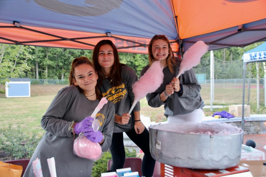 Souhegan Ethics Forum sold food, merchandise, and raffle tickets throughout the game to raise money to help find a cure for Duchenne Muscular Dystrophy.