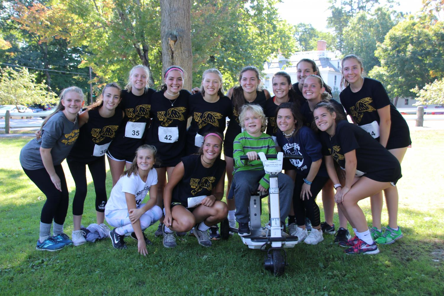 The Souhegan High School field hockey team participated in this year's 5K run.